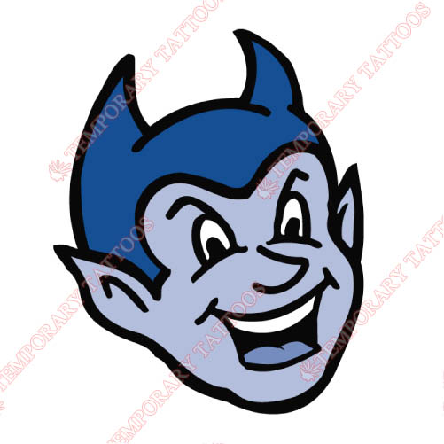 CCSU Blue Devils Customize Temporary Tattoos Stickers NO.4100