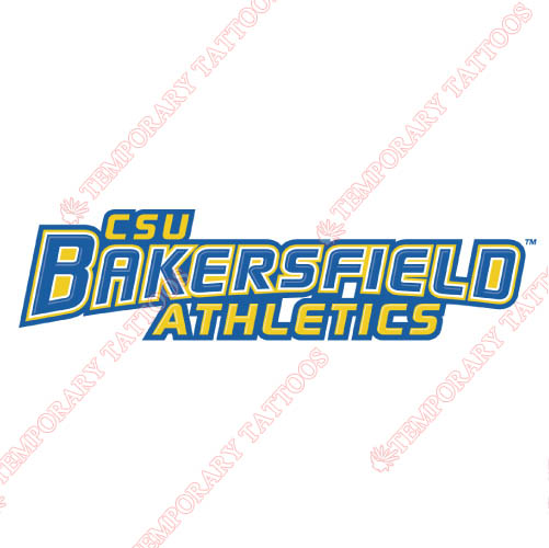 CSU Bakersfield Roadrunners Customize Temporary Tattoos Stickers N4060