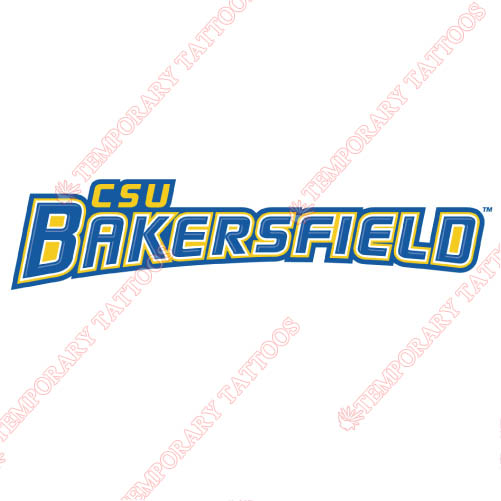 CSU Bakersfield Roadrunners Customize Temporary Tattoos Stickers N4062