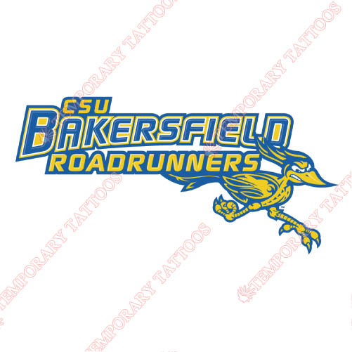 CSU Bakersfield Roadrunners Customize Temporary Tattoos Stickers N4064