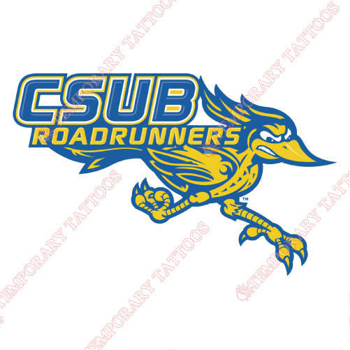 CSU Bakersfield Roadrunners Customize Temporary Tattoos Stickers N4065