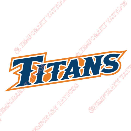 Cal State Fullerton Titans Customize Temporary Tattoos Stickers NO.4066