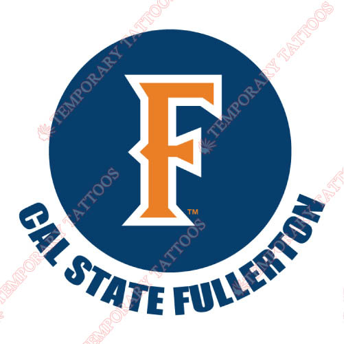 Cal State Fullerton Titans Customize Temporary Tattoos Stickers NO.4067
