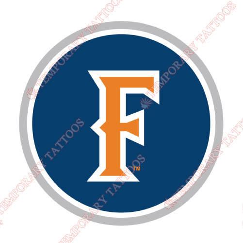 Cal State Fullerton Titans Customize Temporary Tattoos Stickers NO.4068