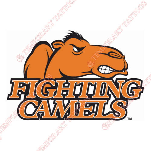 Campbell Fighting Camels Customize Temporary Tattoos Stickers NO.4086