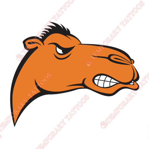 Campbell Fighting Camels Customize Temporary Tattoos Stickers NO.4087