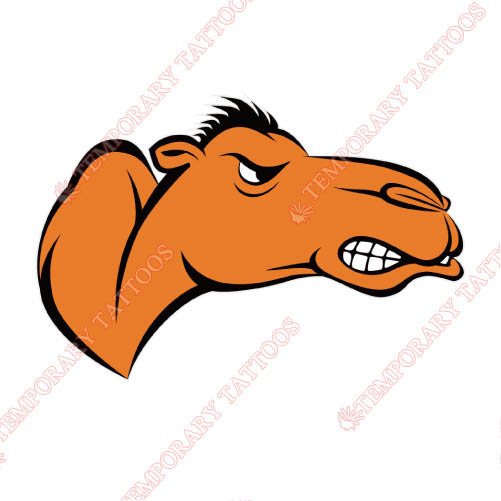 Campbell Fighting Camels Customize Temporary Tattoos Stickers NO.4093