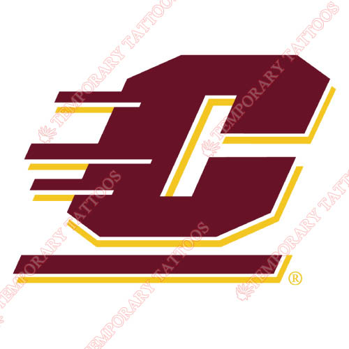 Central Michigan Chippewas Customize Temporary Tattoos Stickers NO.4122