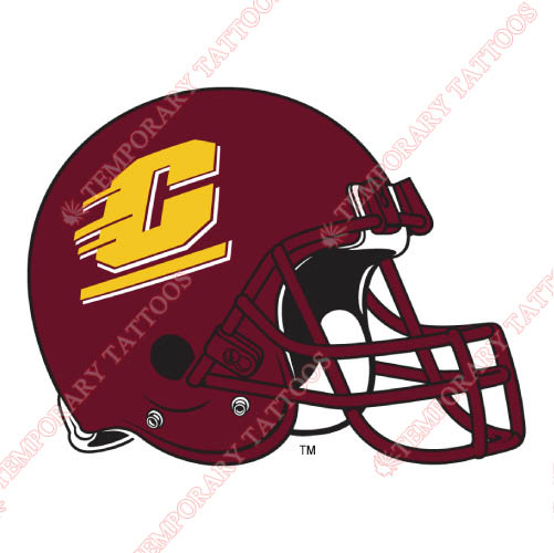 Central Michigan Chippewas Customize Temporary Tattoos Stickers NO.4123