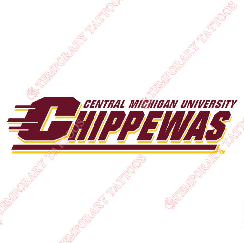 Central Michigan Chippewas Customize Temporary Tattoos Stickers NO.4124