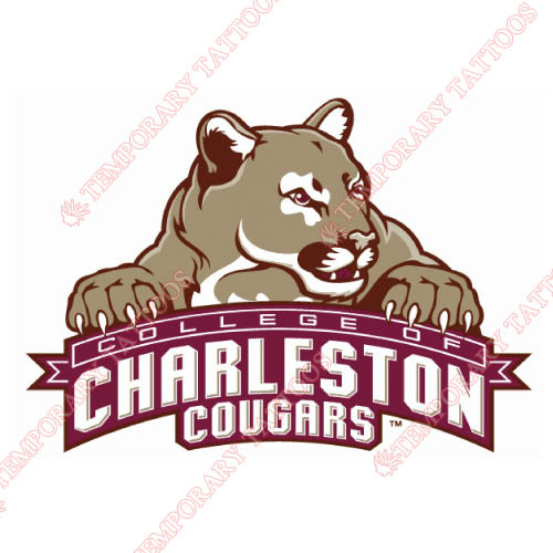 Charleston SC Cougars Customize Temporary Tattoos Stickers NO.4125