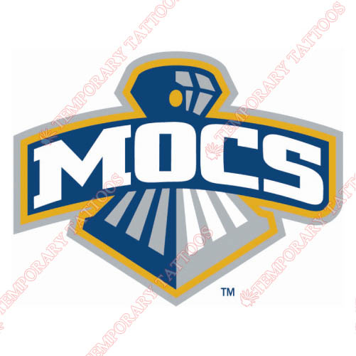 Chattanooga Mocs Customize Temporary Tattoos Stickers NO.4134