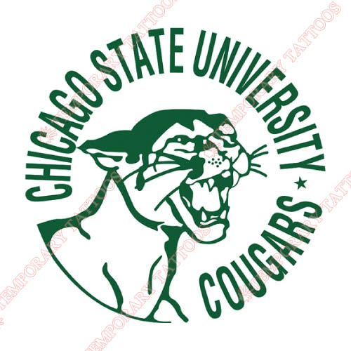 Chicago State Cougars Customize Temporary Tattoos Stickers NO.4139