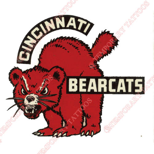 Cincinnati Bearcats Customize Temporary Tattoos Stickers NO.4144