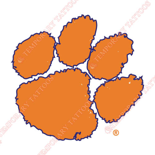 Clemson Tigers Customize Temporary Tattoos Stickers NO.4146