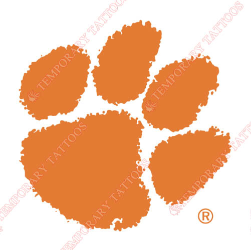 Clemson Tigers Customize Temporary Tattoos Stickers NO.4147