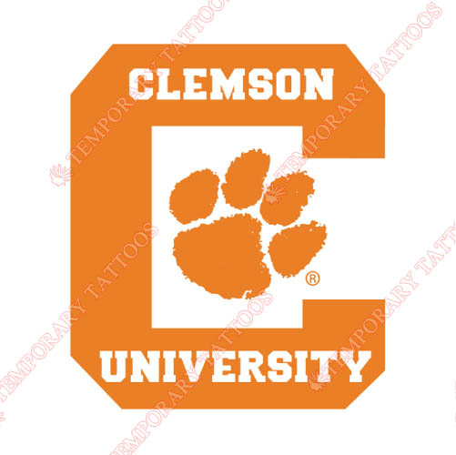 Clemson Tigers Customize Temporary Tattoos Stickers NO.4148