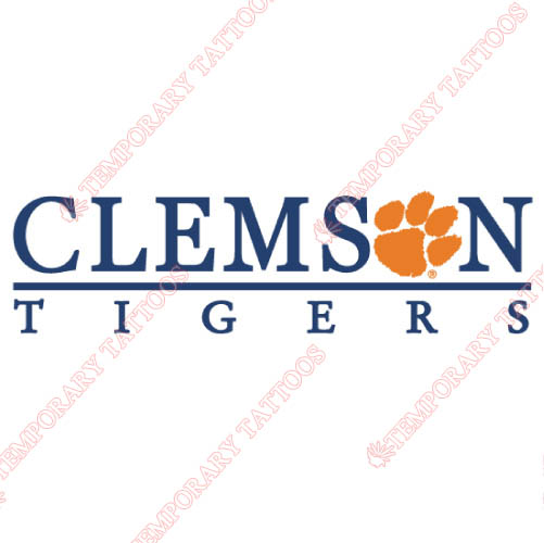 Clemson Tigers Customize Temporary Tattoos Stickers NO.4149