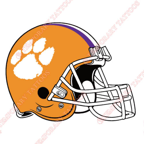 Clemson Tigers Customize Temporary Tattoos Stickers NO.4150