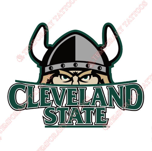Cleveland State Vikings Customize Temporary Tattoos Stickers NO.4153