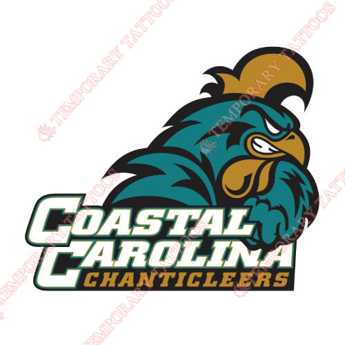 Coastal Carolina Chanticleers Customize Temporary Tattoos Stickers NO.4154