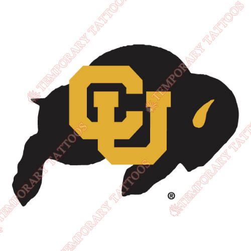 Colorado Buffaloes Customize Temporary Tattoos Stickers NO.4164