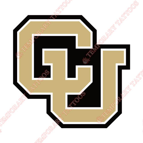 Colorado Buffaloes Customize Temporary Tattoos Stickers NO.4165