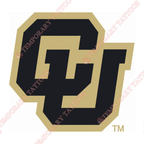 Colorado Buffaloes Customize Temporary Tattoos Stickers NO.4166