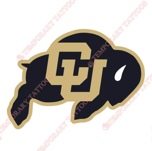 Colorado Buffaloes Customize Temporary Tattoos Stickers NO.4167