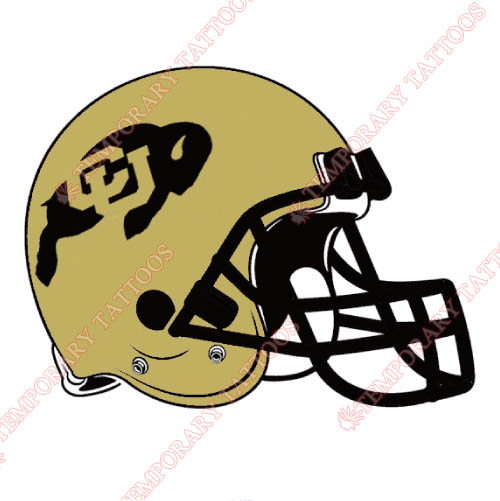 Colorado Buffaloes Customize Temporary Tattoos Stickers NO.4168