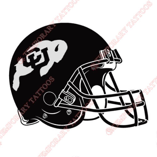 Colorado Buffaloes Customize Temporary Tattoos Stickers NO.4169