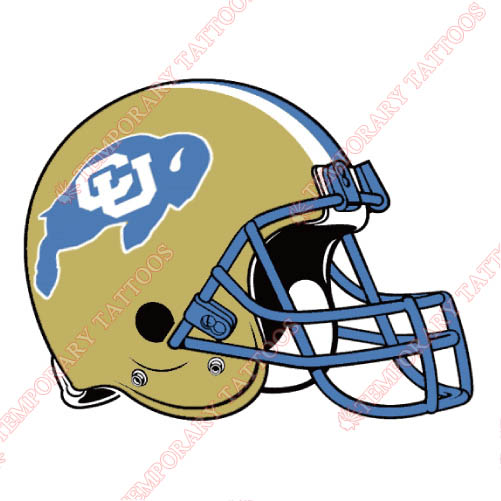 Colorado Buffaloes Customize Temporary Tattoos Stickers NO.4170