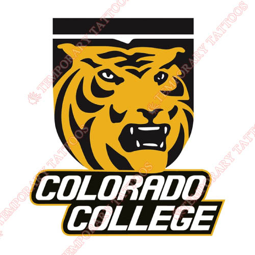 Colorado College Tigers Customize Temporary Tattoos Stickers NO.4173