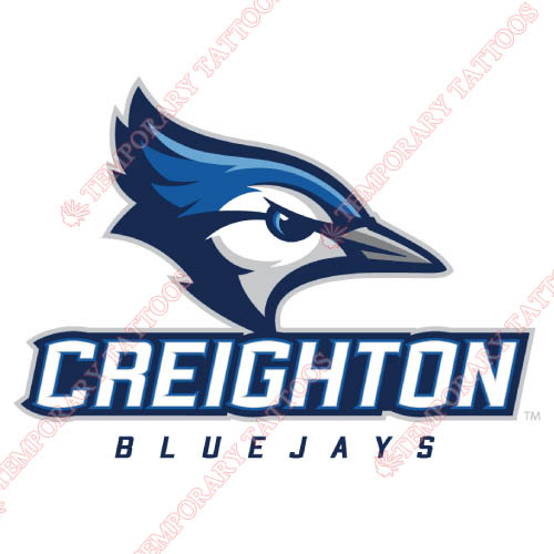 Creighton Bluejays Customize Temporary Tattoos Stickers NO.4197