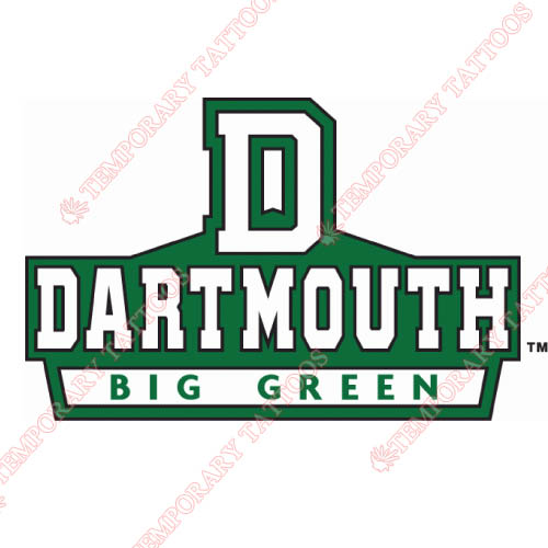 Dartmouth Big Green Customize Temporary Tattoos Stickers NO.4216