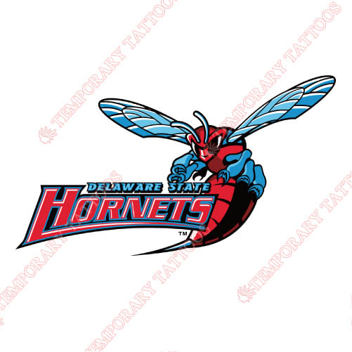 Delaware State Hornets Customize Temporary Tattoos Stickers NO.4250