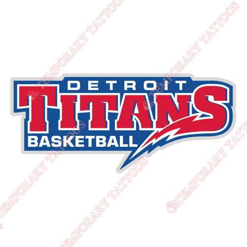 Detroit Titans Customize Temporary Tattoos Stickers NO.4274