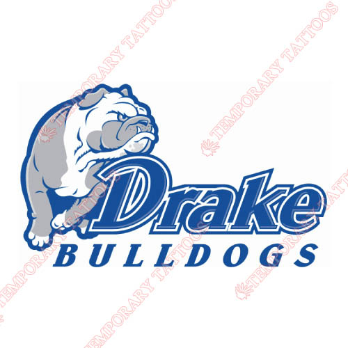 Drake Bulldogs Customize Temporary Tattoos Stickers NO.4275