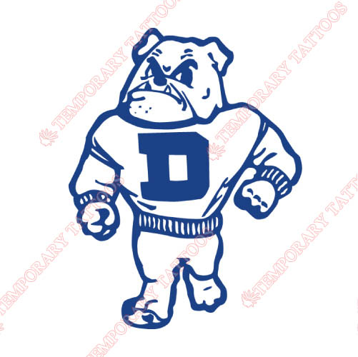 Drake Bulldogs Customize Temporary Tattoos Stickers NO.4276