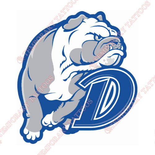 Drake Bulldogs Customize Temporary Tattoos Stickers NO.4277