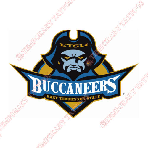 ETSU Buccaneers Customize Temporary Tattoos Stickers NO.4338