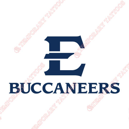 ETSU Buccaneers Customize Temporary Tattoos Stickers NO.4342