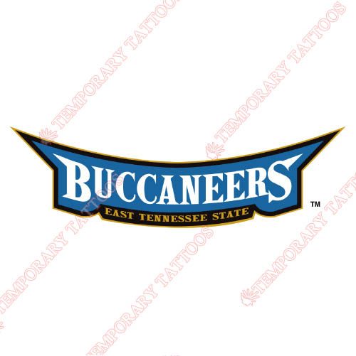 ETSU Buccaneers Customize Temporary Tattoos Stickers NO.4343