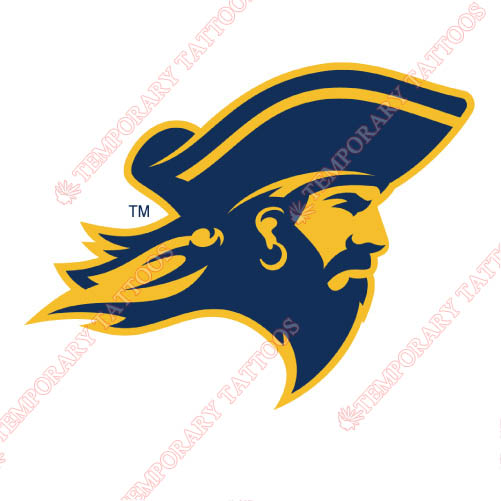 ETSU Buccaneers Customize Temporary Tattoos Stickers NO.4344