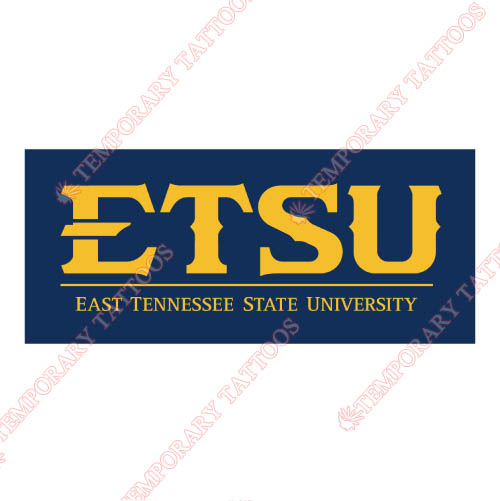 ETSU Buccaneers Customize Temporary Tattoos Stickers NO.4348