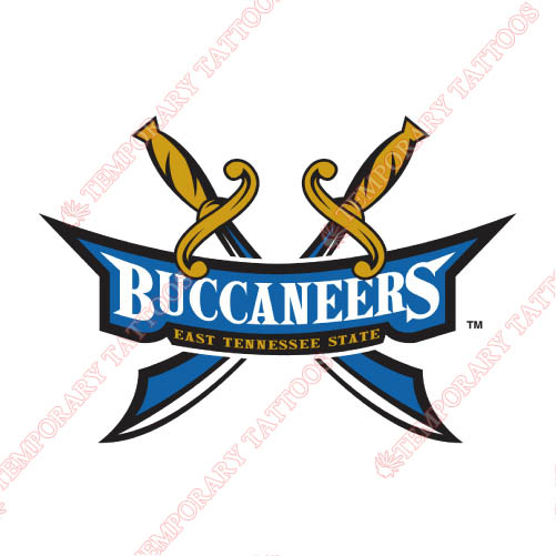 ETSU Buccaneers Customize Temporary Tattoos Stickers NO.4350