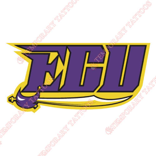 East Carolina Pirates Customize Temporary Tattoos Stickers NO.4301