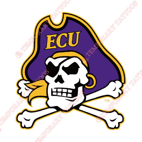 East Carolina Pirates Customize Temporary Tattoos Stickers NO.4303