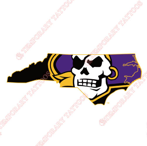 East Carolina Pirates Customize Temporary Tattoos Stickers NO.4304