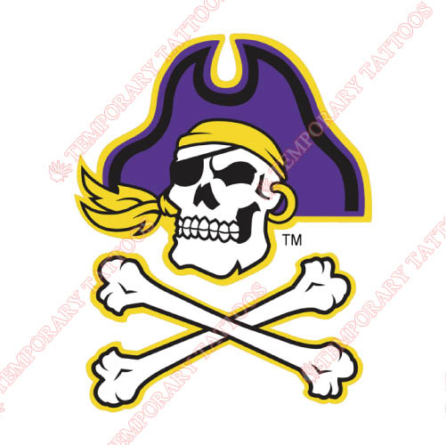 East Carolina Pirates Customize Temporary Tattoos Stickers NO.4305